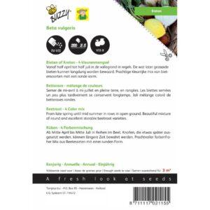 02115 Tuinbiet 4 Gemengde kleuren - Betterave Potagère Mélange de 4 couleurs