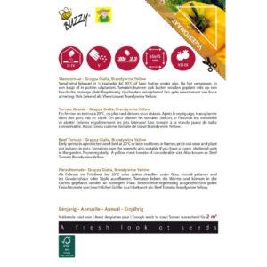 28475 Tomaat Brandywine Yellow, Grappa Gialla - Tomate Grappa Gialla