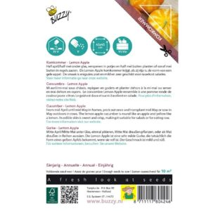 80424 Komkommer Lemon Apple - Concombre Lemon Apple