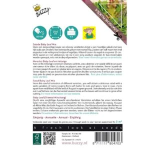 80470 Salade Baby Leaf Mix - Oriental Mix - Mesclun Baby Leaf en mélange - Mesclun Orientale