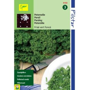 9193 Peterselie Donkergroen Gekrulde Zaadpillen - Persil Frisé vert foncé Graines enrobées