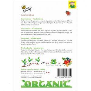 92079 Komkommer - Concombre Marketmore Bio