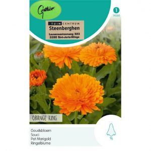14088 Calendula officinalis Orange King - Goudsbloem - Souci