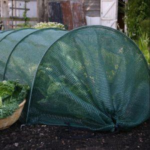 12485 Kweektunnel met groen net - Tunnel accordéon filet vert